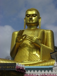 The Golden Buddha, which I stopped to see on the way out of Anaradhapura.