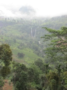 Misty view, but there are a couple of waterfalls there.